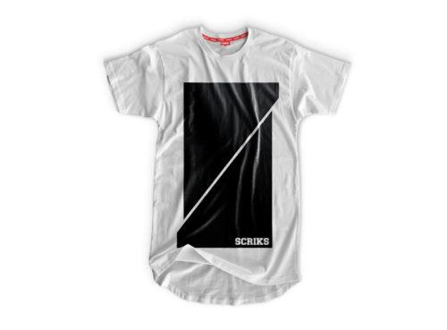 scriks white and black t-shirt luxury cotton hypebeast urban street fashion