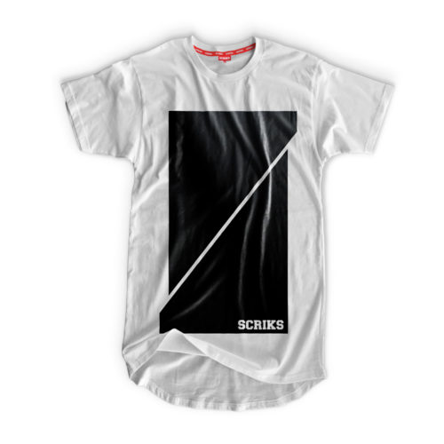 scriks white and black t-shirt luxury cotton hypebeast urban street fashion