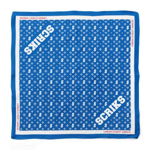 scriks blue bandana luxury cotton hypebeast urban street fashion