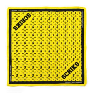scriks yellow bandana luxury cotton hypebeast urban street fashion