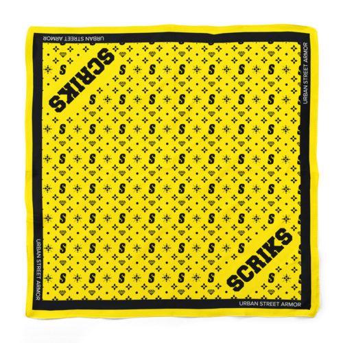 scriks yellow bandana luxury cotton hypebeast urban street fashion